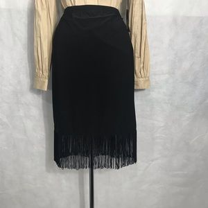 "Black fringe skirt by ""Tribal"""